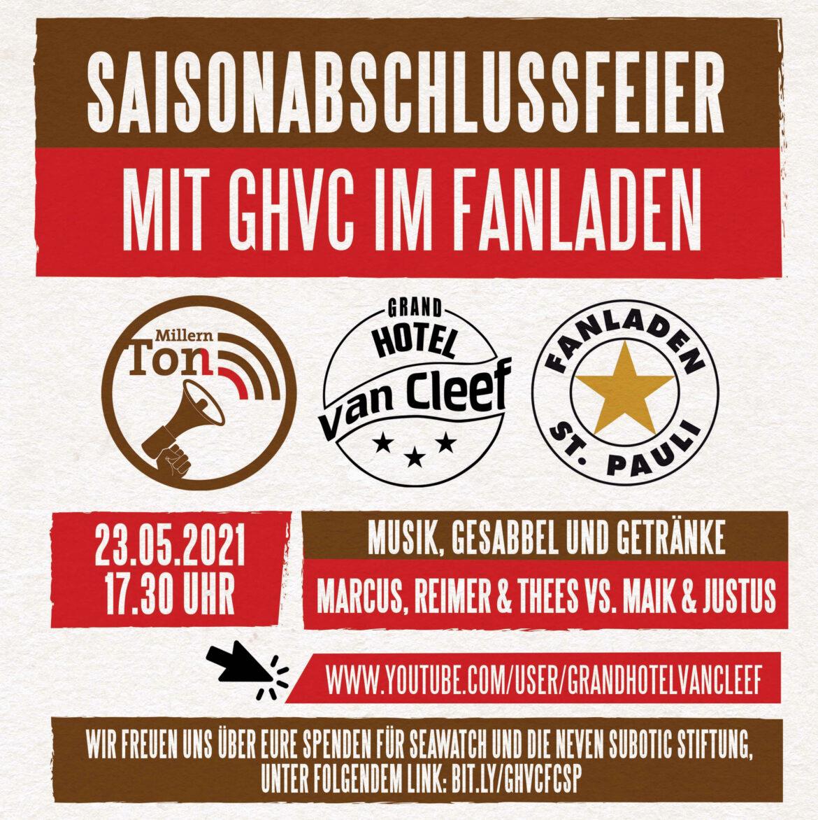 MillernTöne – Saisonabschlussfeier mit GHvC im Fanladen